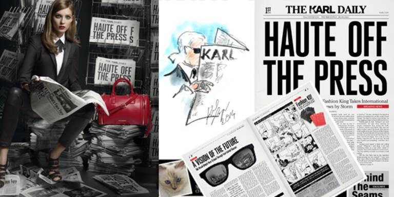 Lagerfeld bringt Tageszeitung heraus