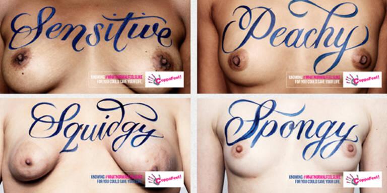 Wie fühlen sich Ihre Brüste an?