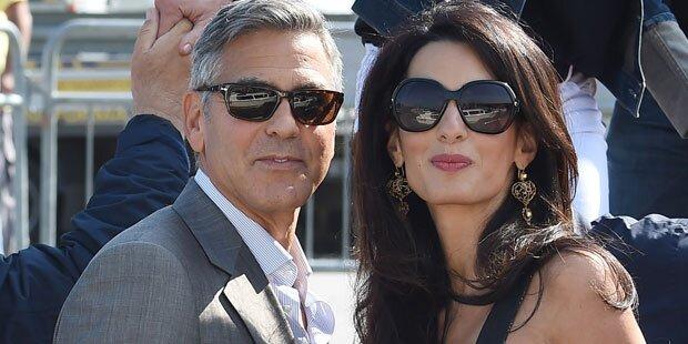 Clooney: Streit mit Amal wegen Baby