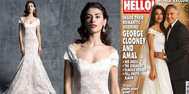 Clooney-Hochzeit: Die erste Brautkleid-Kopie