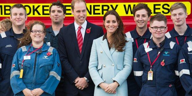 Herzogin Kate zeigt ihr Babybäuchlein