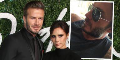 David Beckham wird grau