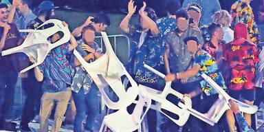 Massen-Schlägerei vor Disco: 4 Verletzte