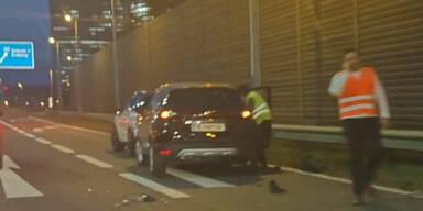 Stau-Chaos nach Unfall in Wien