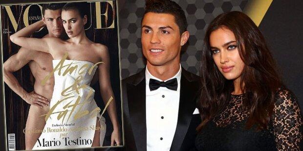 Cristiano Ronaldo nackt auf Vogue Espana
