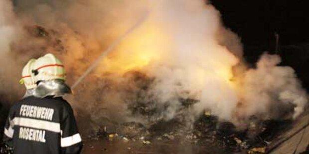 100 Tonnen Müll standen in Flammen