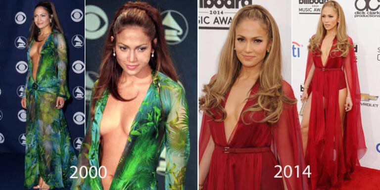 J.Lo: Damals wie heute mit XXL-Ausschnitt