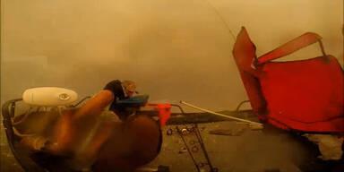 Fischer von heftigem Hagel überrascht