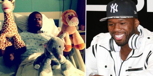 50 Cent twittert aus dem Krankenhaus