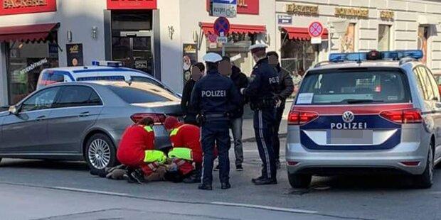 Frau in Floridsdorf von Auto angefahren