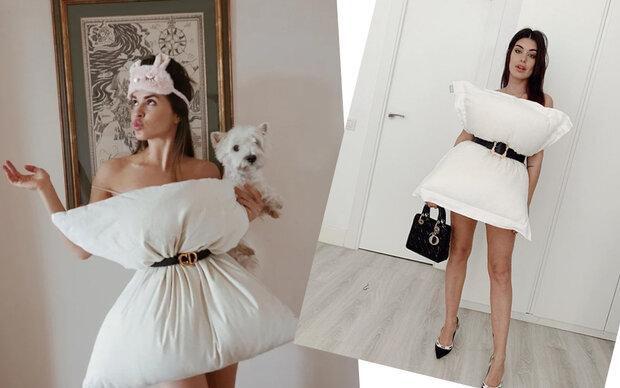 Daheim Couture: Pillow-Challenge auf Instagram