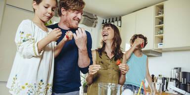familie essen gesund