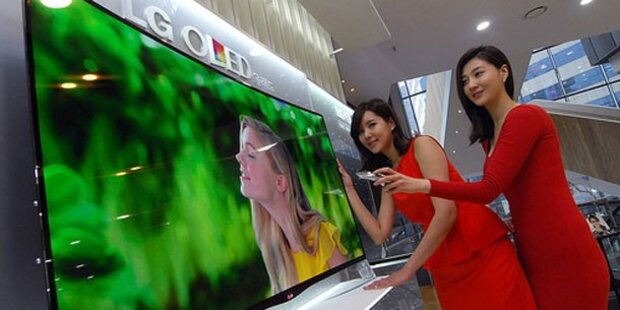 Gebogene OLED-Fernseher von LG starten