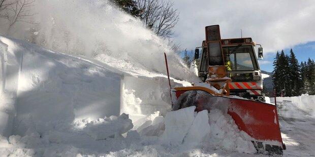 Kampf gegen die Schneemassen