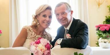 Landeshauptmann Wilfried Haslauer hat geheiratet