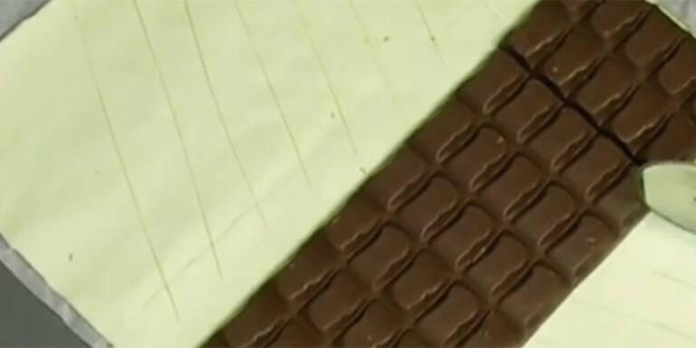 Schokotafel im Ofen wird zum Strudel