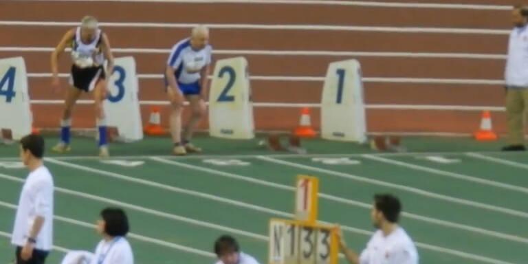 94-Jähriger gewinnt 60m-Sprint bei Senioren-EM