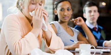 Krank in der Arbeit