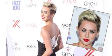 Miley mit weißem Puder auf Maxim Party