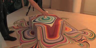 Farbenschlacht als wunderschöne Kunst