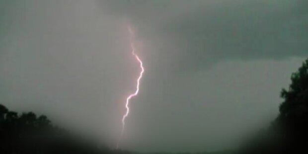 Starkregen über Wien mit Sturmböen