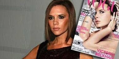 Victoria Beckham auf der Titelseite der Vogue