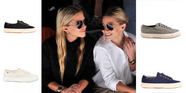 Luxustreter aus Kaschmir von den Olsen-Twins