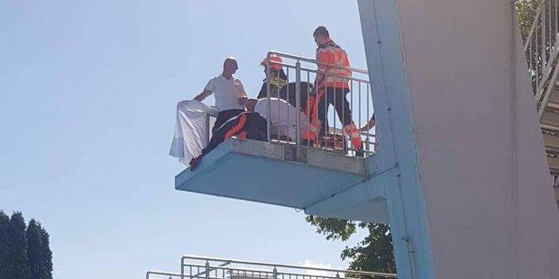 Bub krachte bei 10-Meter-Sprung auf 5-Meter-Turm