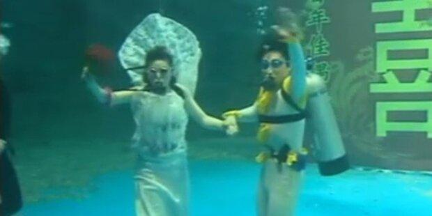Unterwasser-Hochzeit neuer Trend in China