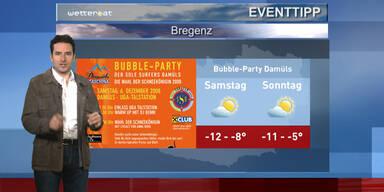 Der Eventtipp: Bubble-Party in Damüls