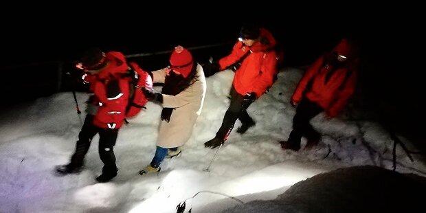 Touristinnen in Halbschuhen von Berg gerettet