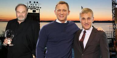 Bond-Stars: Klaus-Maria Brandauer, Daniel Craig, Christoph Waltz