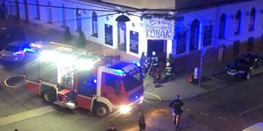 Brand in Grill-Lokal: Feuerwehr-Einsatz in Wien