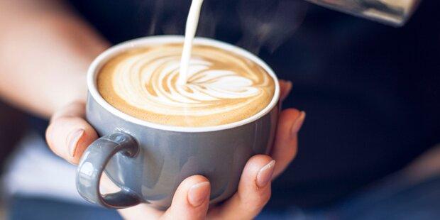 Kaffee mit kalter Milch länger heiß?