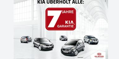 Kia feiert 7  --  konkurrenzlose 7 Jahre Werksgarantie!