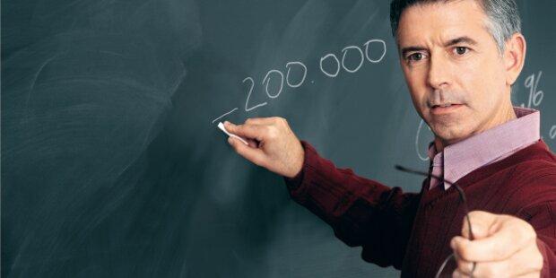 Lehrer verdienen 200.000 weniger