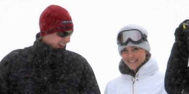 William und Kate turteln im Schnee