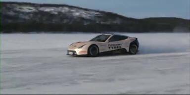 Weltrekord auf Eis: Elektroauto fährt 252 km/h