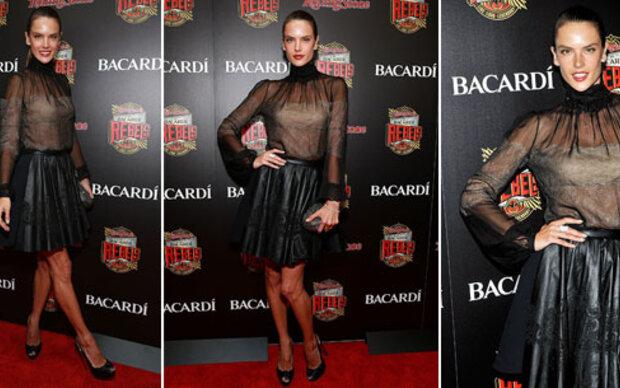 Alessandra Ambrosio absolut nicht rockig!