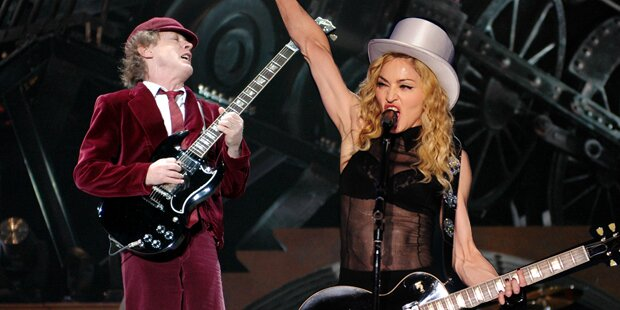 Madonna & AC/DC live bei Grammys