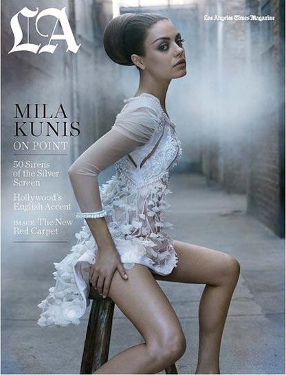 Mila Kunis im LA Times Magazine