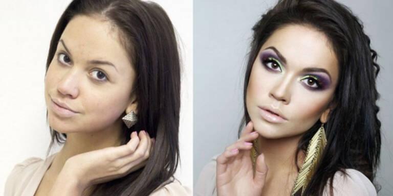10 Fotos die zeigen wie Make-Up täuscht