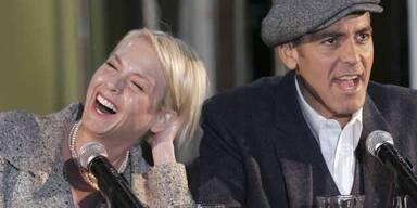 Bei Clooney wird Zellweger rot