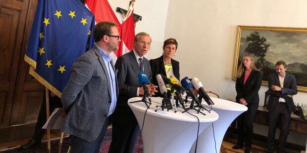 ÖVP, Grünen und NEOS einigten sich