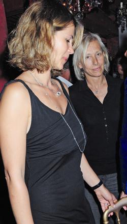 Julia Lemigova und Martina Navratilova