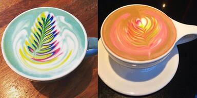 Caffè Latte im Regenbogen-Look
