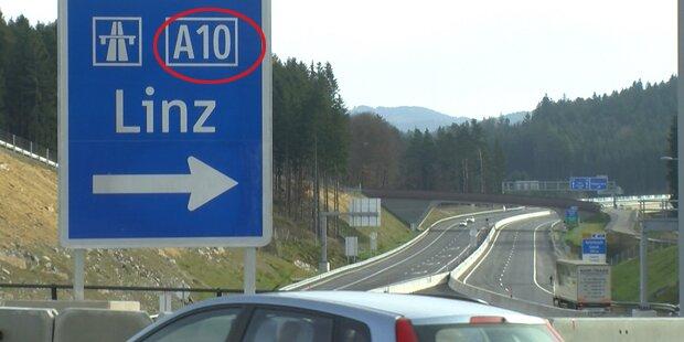 Asfinag-Panne: A10 statt S10 plakatiert