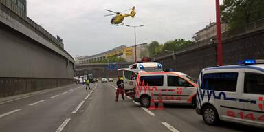 Rettungseinsatz sorgt für Mega-Stau auf der Tangente