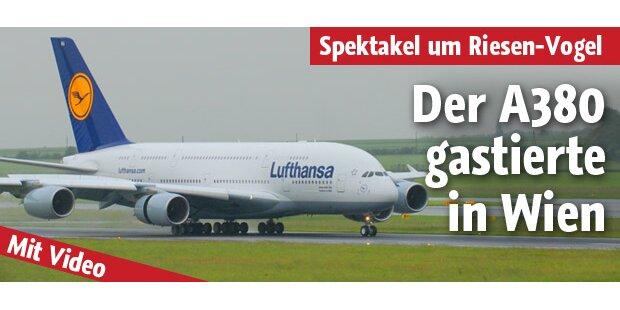 Riesen-Jet A380 gastierte in Wien