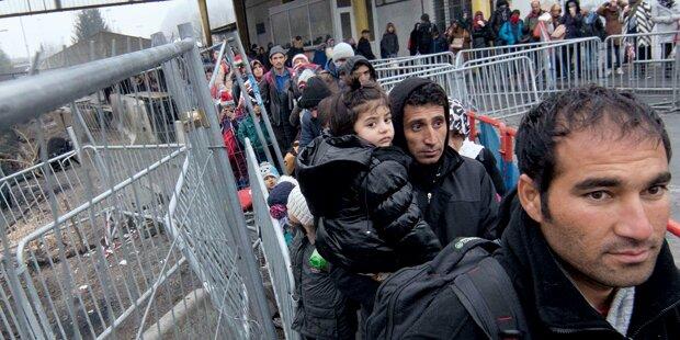 Österreich schickte 400 Flüchtlinge wieder zurück